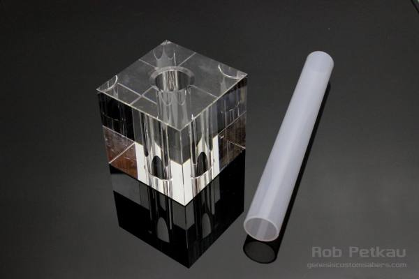 Expo Stands Lightsaber : Radiant cube saber stand « genesis custom sabers
